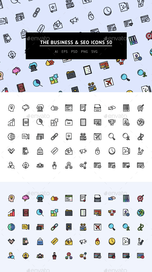 The Business & SEO Icons 50 - Web Icons