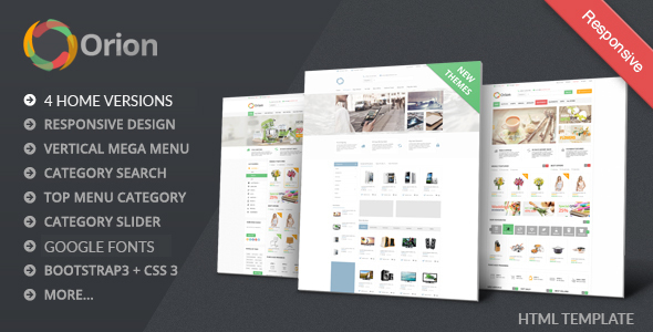 Orion - Mega Shop Bootstrap Template