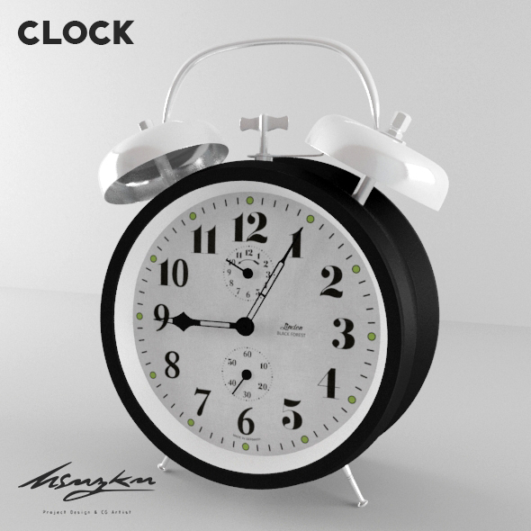 Alarm Clock - 3DOcean Item for Sale