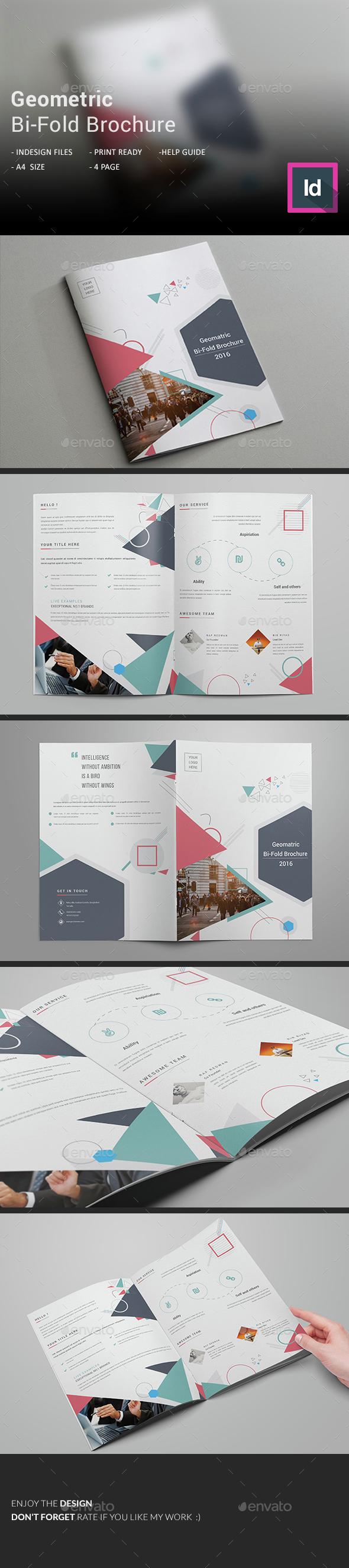 Geometric Bi-Fold Brochure  - Corporate Brochures