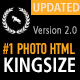 KingSize FullScreen Photography Template - ThemeForest Item for Sale