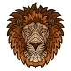 Ethnic Patterned Ornate Head of a Lion - GraphicRiver Item for Sale