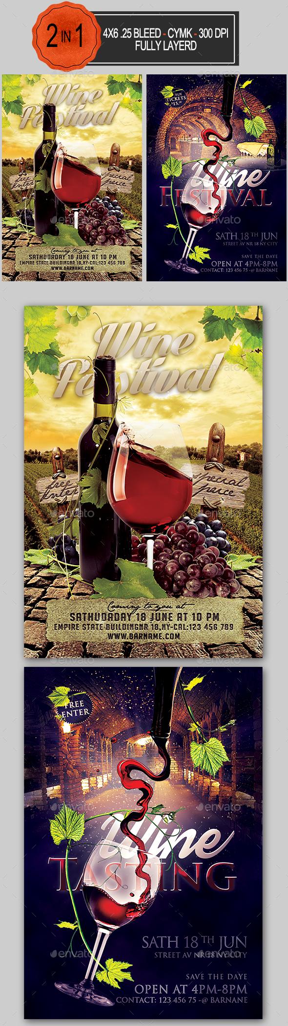 Wine Flyer Bundle - Clubs & Parties Events