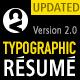 Typographic CV - Modern Unique Resume