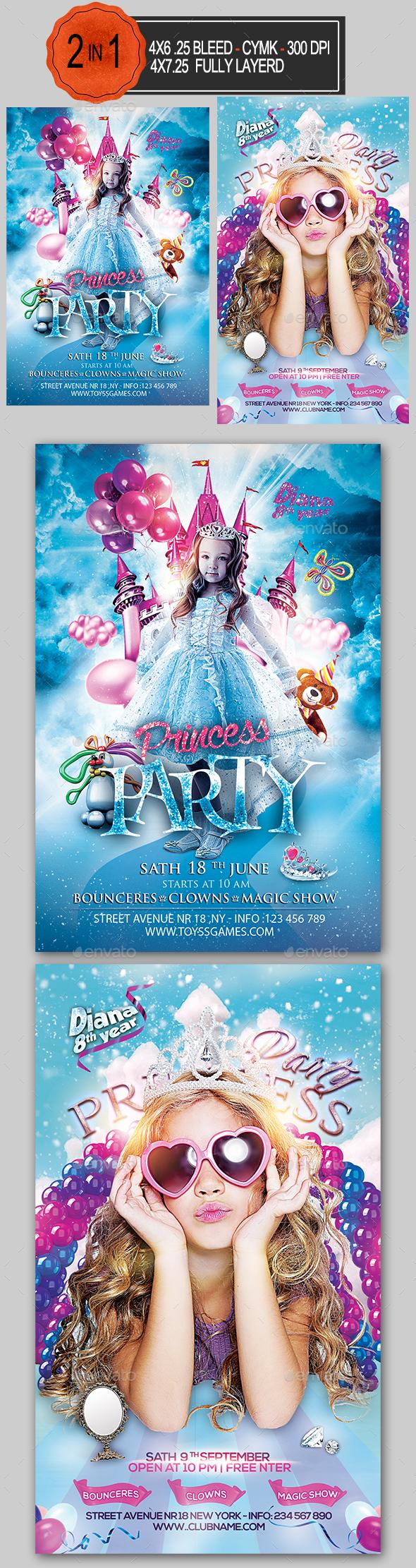 Princess Party Flyer Bundle - Clubs & Parties Events