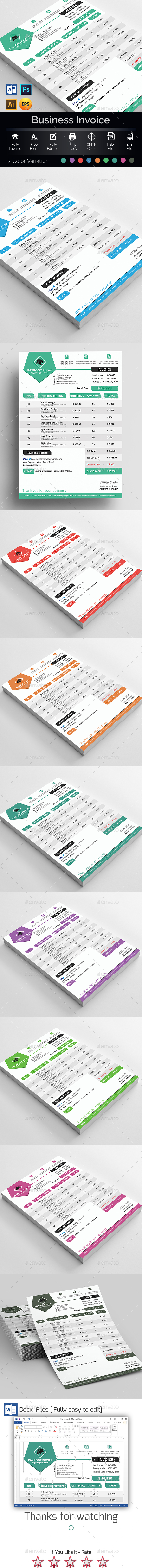Invoice Template Word - Proposals & Invoices Stationery