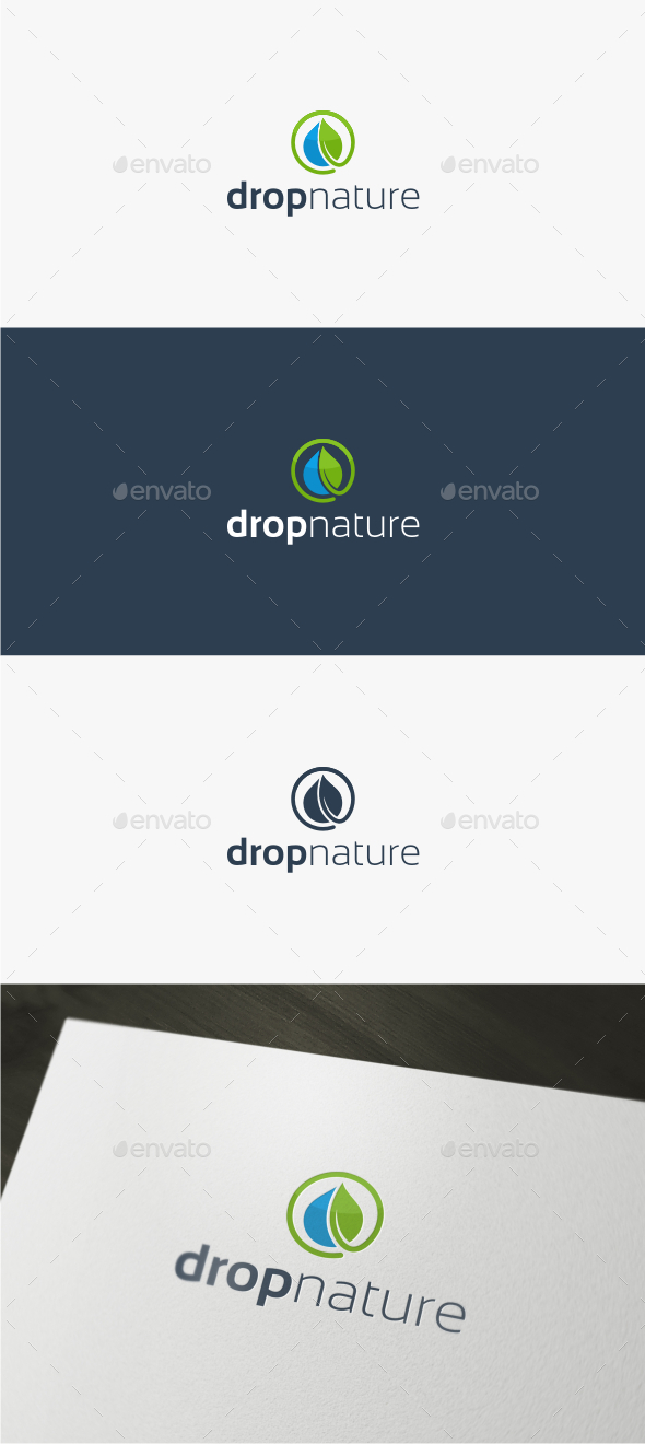 Drop Nature - Logo Template - Nature Logo Templates