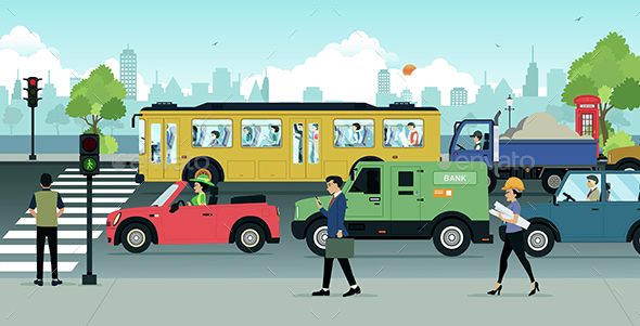 City Traffic - People Characters