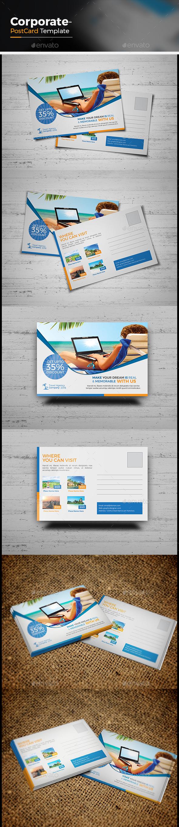 Travel Agency Postcard - Cards & Invites Print Templates