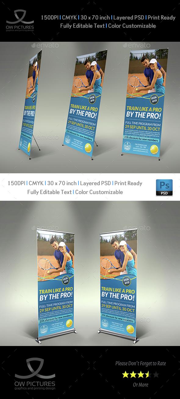 Tennis Training Signage Template - Signage Print Templates
