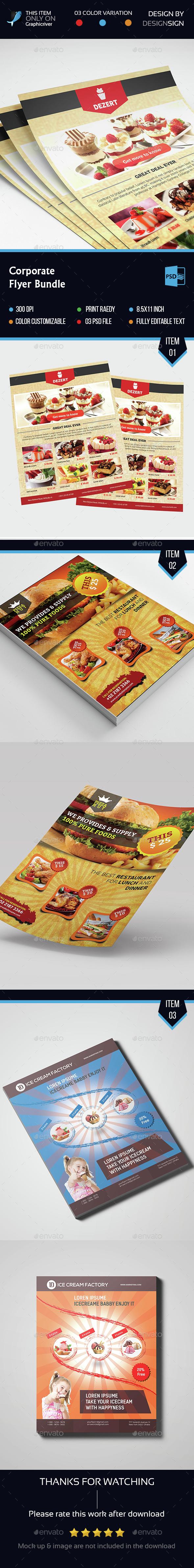 Restaurant Flyer Bundle - Flyers Print Templates