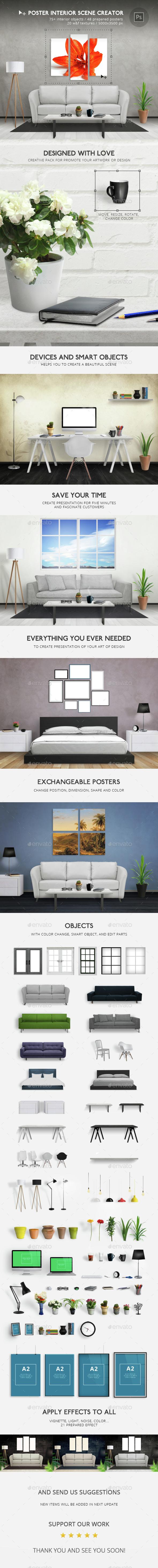 Poster Interior Scene Creator - Posters Print