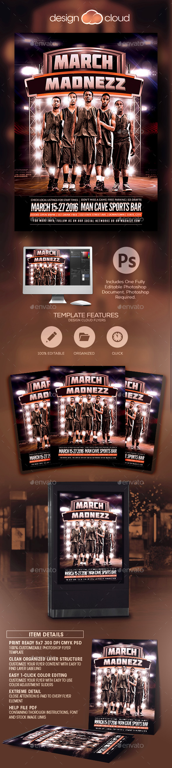 March Madnezz v1 Flyer Template - Sports Events