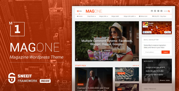 MagOne - Newspaper & Magazine WordPress Theme