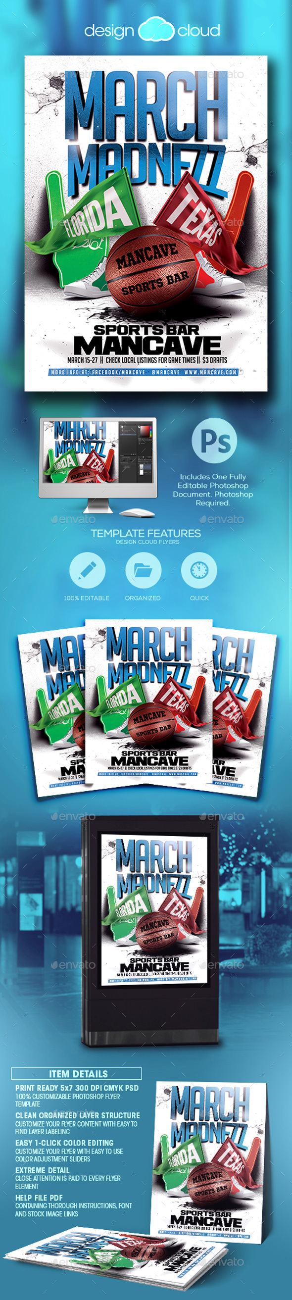 March Madnezz v2 Flyer Template - Sports Events