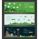 Flat Design Natural And Ecological Landscapes - GraphicRiver Item for Sale