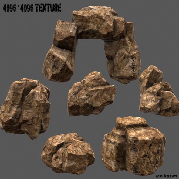 rock set 07 - 3DOcean Item for Sale