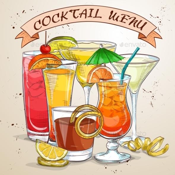 New Era Drinks Cocktail Menu - Food Objects