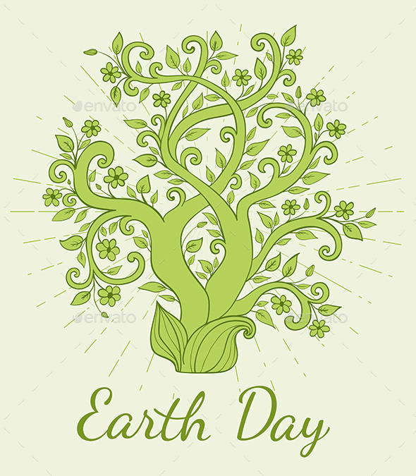 Earth Day Background - Flowers & Plants Nature
