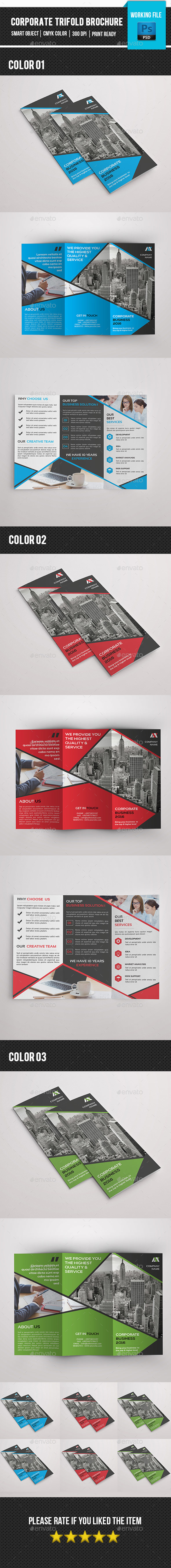 Corporate Trifold Brochure-V281 - Corporate Brochures