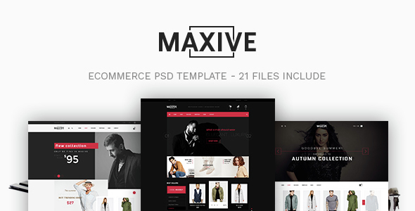 Maxive – Ecommerce PSD Template