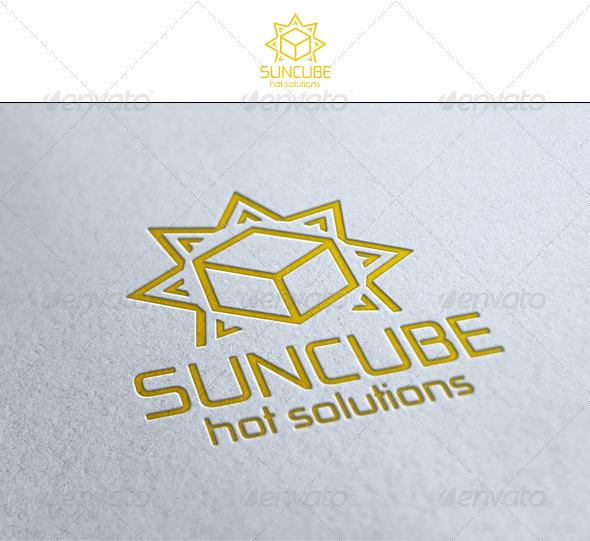 Sun Cube - Symbols Logo Templates