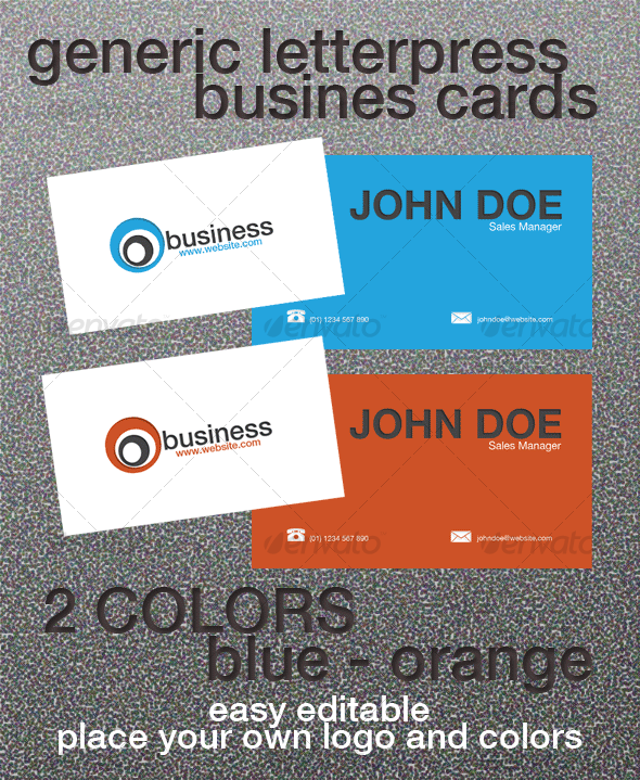 Generic Letterpress Business Card - Creative Business Cards