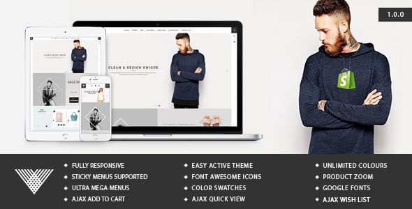 Vintage – Responsive Ecommerce Shopify Template