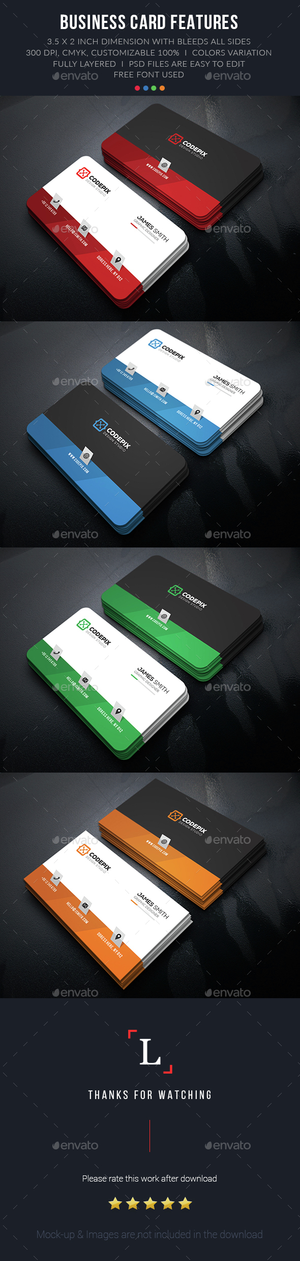 Shade Corporate Business Cards - Business Cards Print Templates