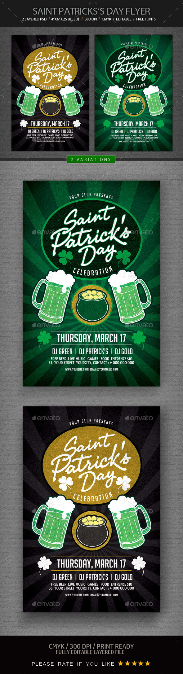 St. Patrick's Day Flyer - Holidays Events