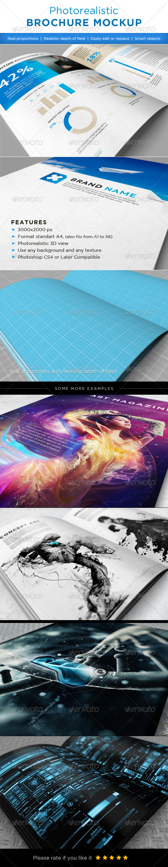 Realistic brochures mock-ups - Brochures Print