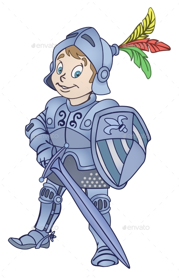 Medieval Knight Illustration - People Characters