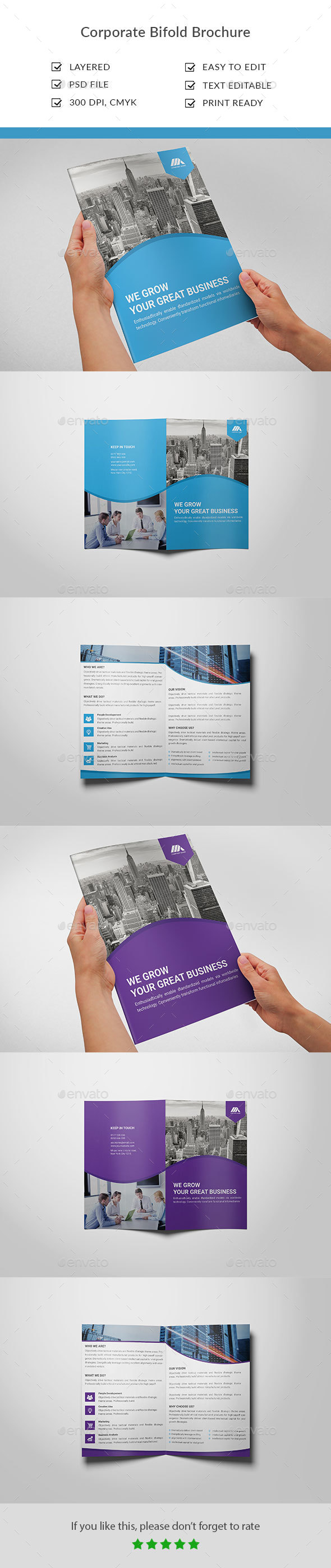 Corporate Bifold Brochure - Brochures Print Templates