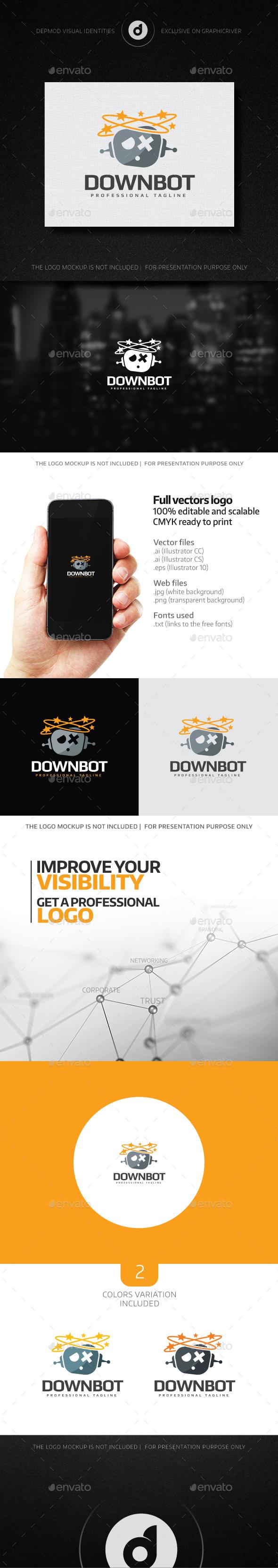 Down Bot Logo - Objects Logo Templates