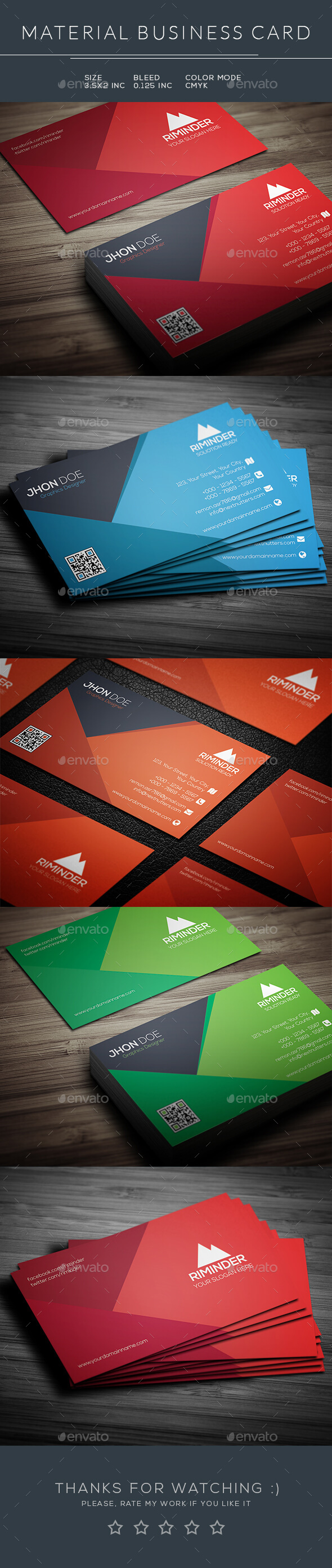 Material Business Card - Business Cards Print Templates