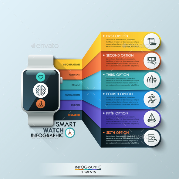 Smart Watch Infographic Design Template - Infographics