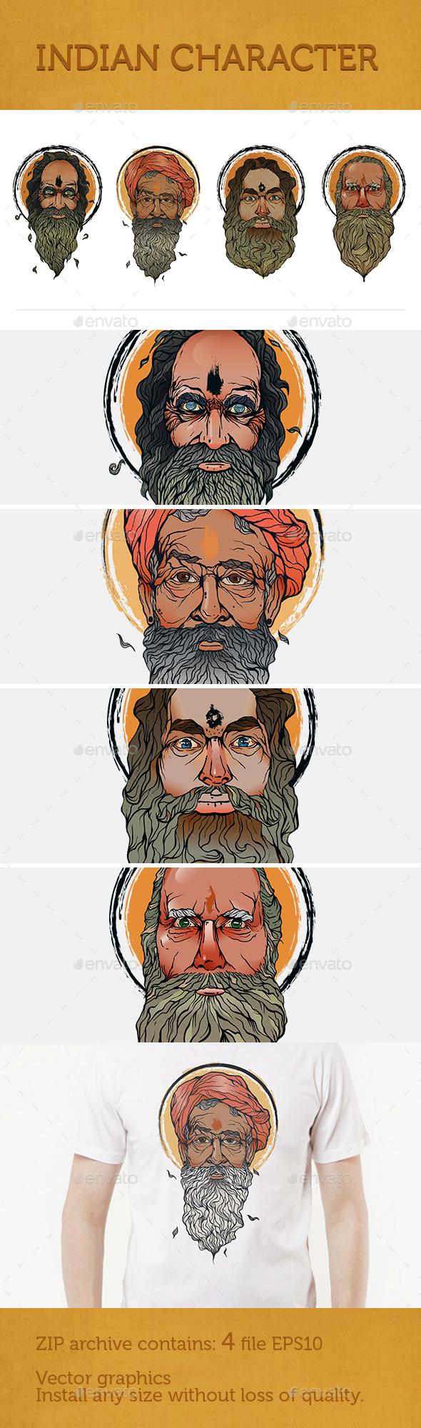 Indian Character - Characters Vectors