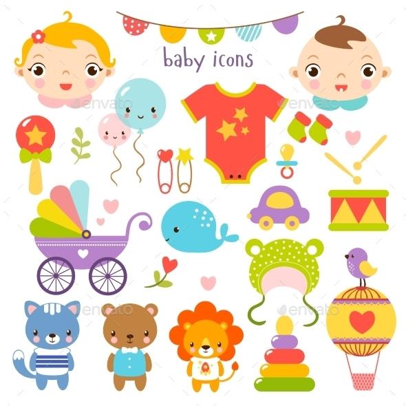 Baby Icons Set - Birthdays Seasons/Holidays