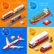 Logistic Icon 01 Vehicle Isometric - GraphicRiver Item for Sale