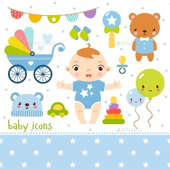 Cartoon Baby Boy Set - Birthdays Seasons/Holidays