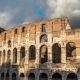 Colosseum In Rome During Sunset - VideoHive Item for Sale
