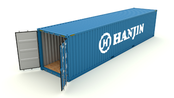 Shipping container Hanjin - 3DOcean Item for Sale