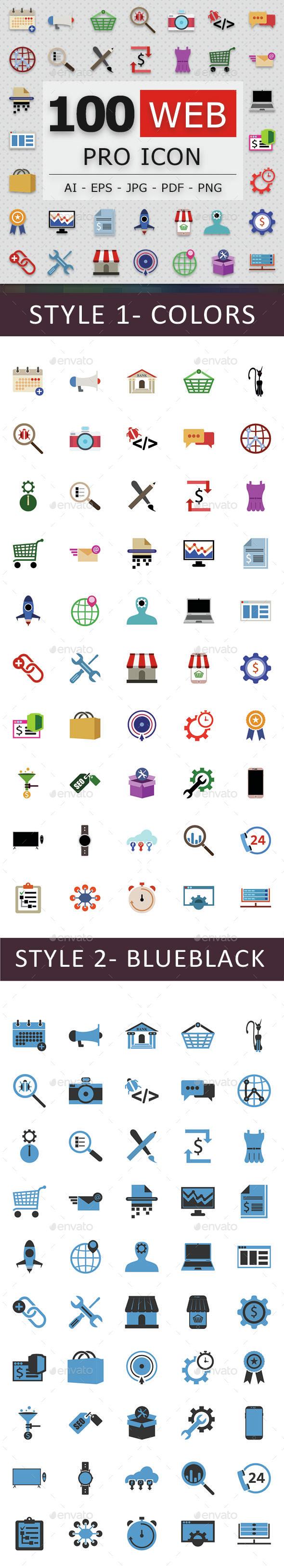 100 Web Pro Icons - Web Icons