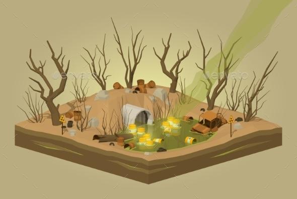 Toxic Waste Dump - Landscapes Nature