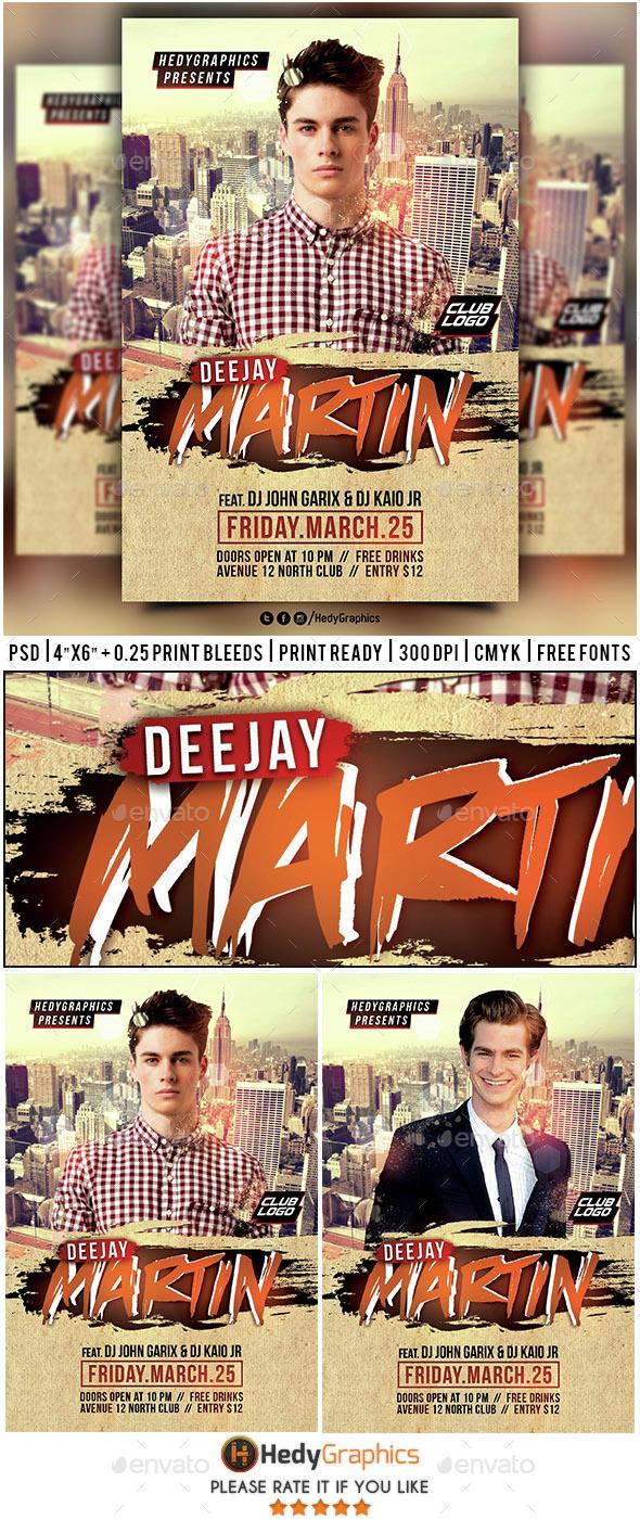 Guest Dj & Artist - Flyer Template - Clubs & Parties Events