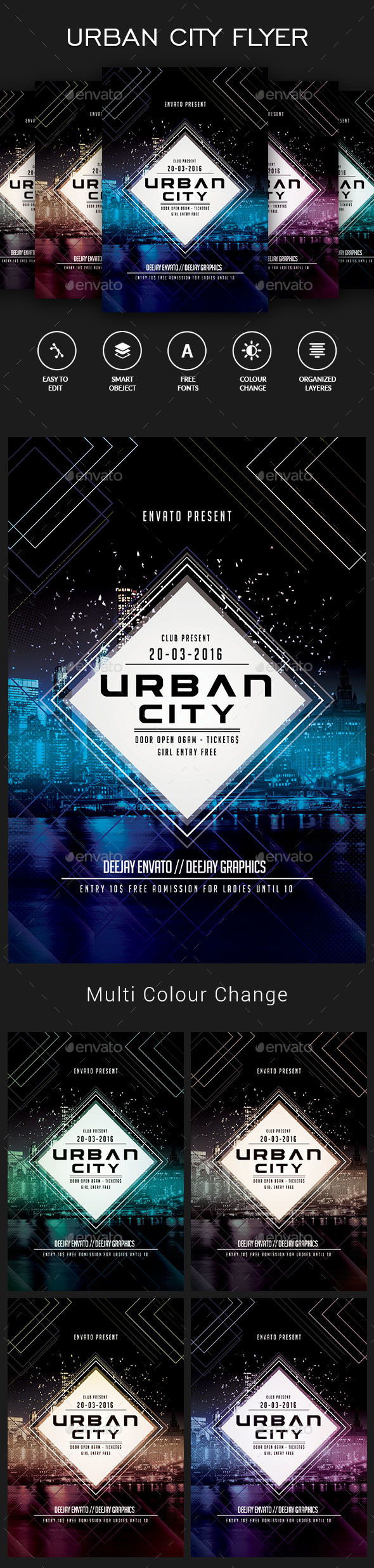 Urban City Flyer - Clubs & Parties Events