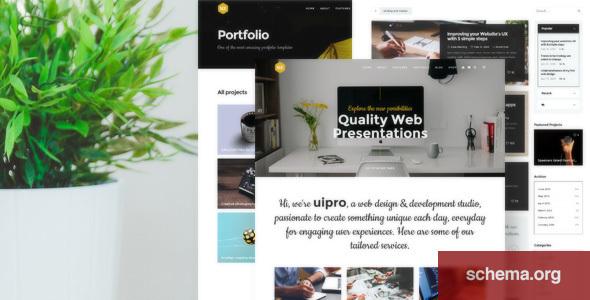 UX – Creative Portfolio Template