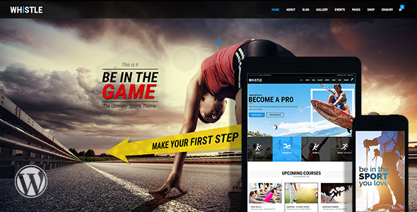 Whistle – Sports, Gym WordPress Theme