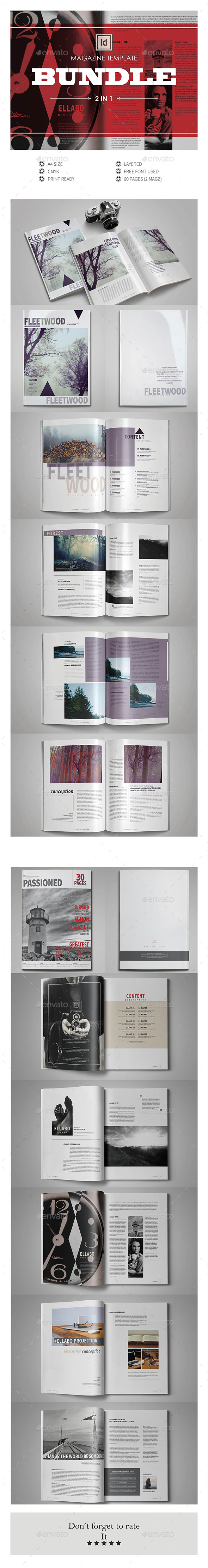Multipurpose InDesign Magazine Template Bundle V.4 - Magazines Print Templates