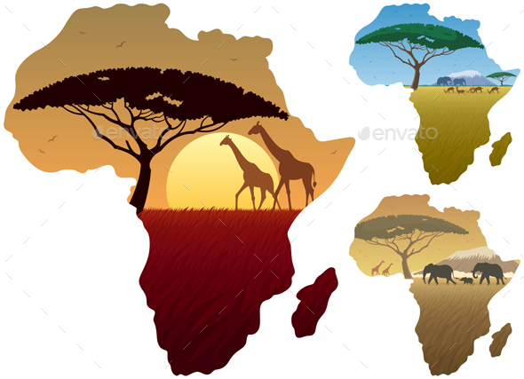 Africa Map Landscapes - Landscapes Nature